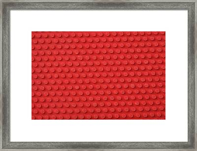Macro Ping Pong Paddle Texture Framed Print by Nic Taylor