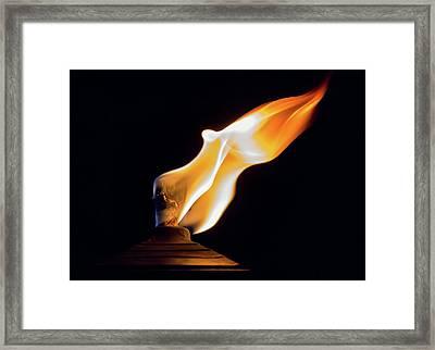 Macro Torch Framed Print