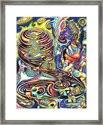 Macrocosmic Creation Of A Splendid Puzzle Framed Print