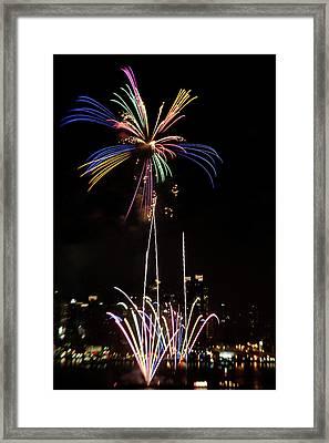 Macy's Fireworks I Framed Print by David Hahn