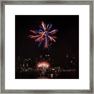 Macy's Fireworks II Framed Print by David Hahn