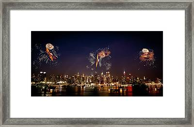 Macy's Fireworks Iv Framed Print by David Hahn