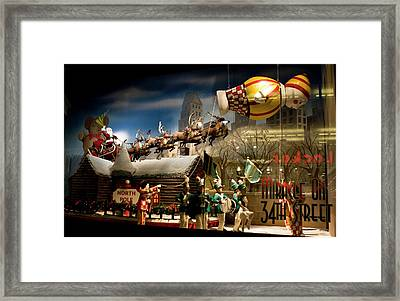 Macy's Miracle On 34th Street Christmas Window Framed Print