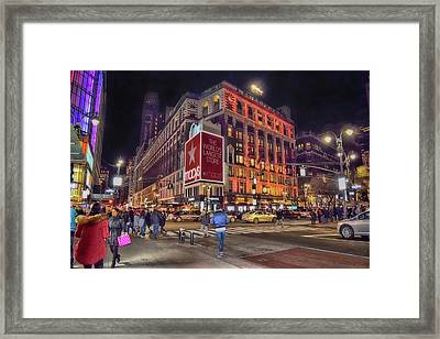 Macy's Of New York Framed Print