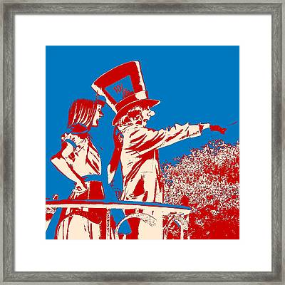 Mad As A Hatter Framed Print by Sharon Cross
