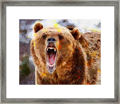 Mad Bear Portrait  Framed Print
