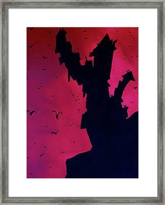 Mad Castle On A Hill Framed Print by Jera Sky