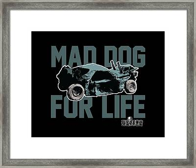 Mad Dog For Life Framed Print by George Randolph Miller