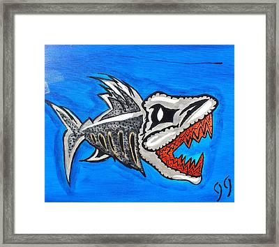 Mad Fish Framed Print by Jeff Harris