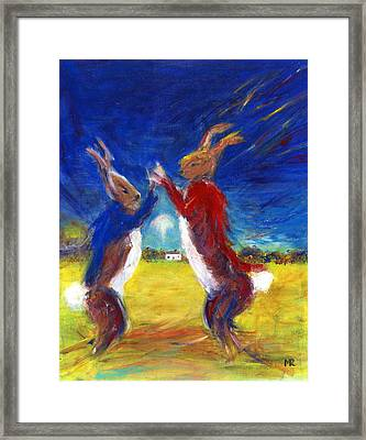 Mad Hare March Framed Print by Michelle Reeve