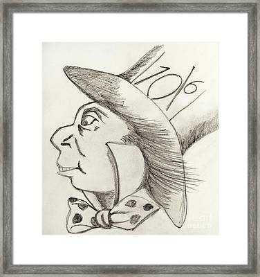 Mad Hatter Framed Print by Gillian Singleton