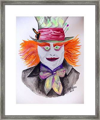 Mad Hatter Framed Print by Maria Urso