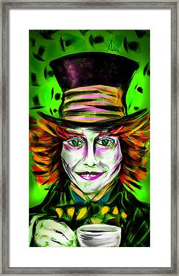 Mad Hatter Framed Print by Alessandro Della Pietra