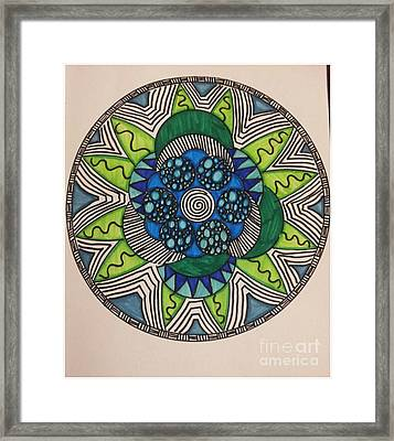 Mad Mandala Framed Print