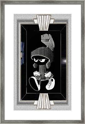 Mad Marvin Framed Print