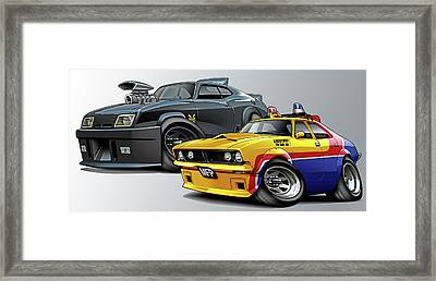 Mad Max Falcon And Interceptor Framed Print