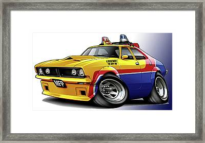 Mad Max Mfp Falcon Police Car Framed Print by Maddmax