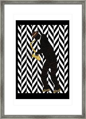 Mad Sax Poster Framed Print