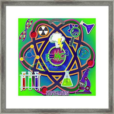 Mad Science Collage Framed Print
