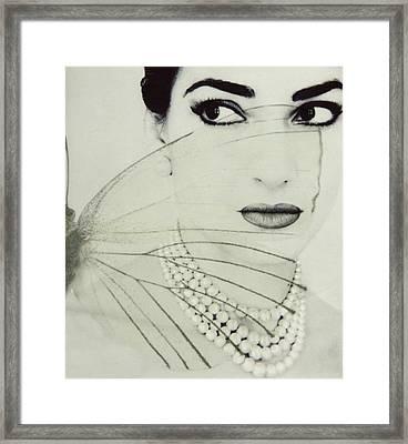 Madam Butterfly - Maria Callas  Framed Print