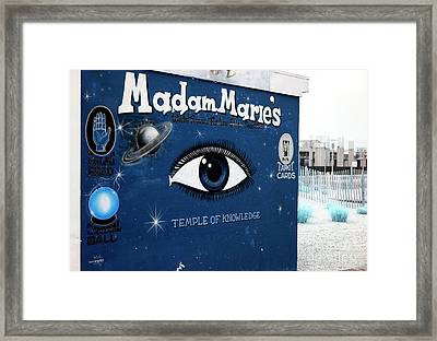 Madam Marie's Temple Of Knowledge Framed Print