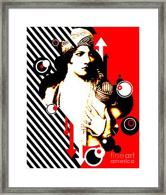 Madam Stripe Framed Print by Chris Andruskiewicz