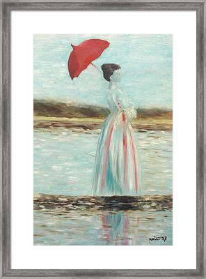 Madame Beach Walk Framed Print by Monika Krist