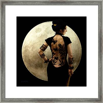 Madame Butterfly Framed Print by Jose Luis Munoz Luque