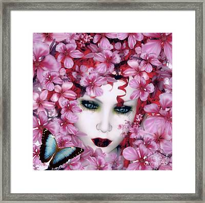 Madame Butterfly Framed Print by Shanina Conway
