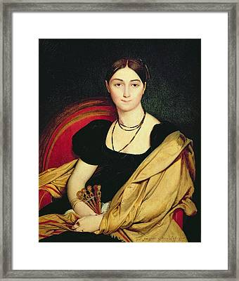Madame Devaucay Framed Print by Jean Auguste Dominique Ingres