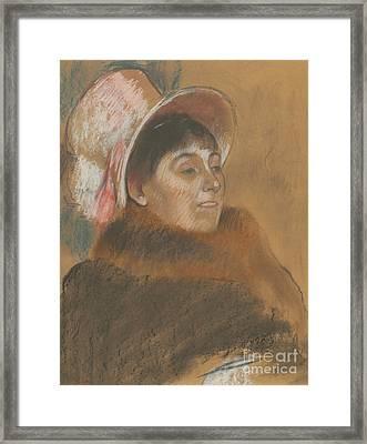Madame Dietz-monnin, 1879 Framed Print by Edgar Degas
