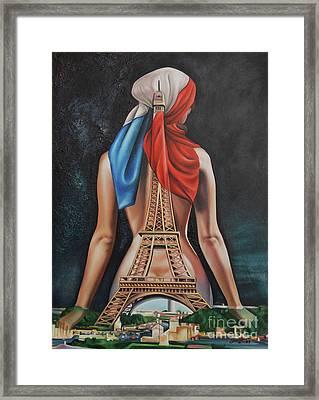 Madame Eiffel Framed Print