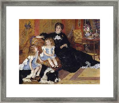 Madame Georges Charpentier And Her Children Framed Print by Pierre Auguste Renoir