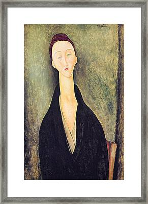 Madame Hanka Zborowska Framed Print by Amedeo Modigliani