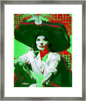 Madame Kate And The Big Hat Framed Print by Seth Weaver