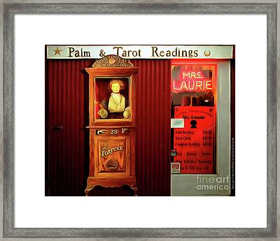 Madame Laurie's 24 Hour Fortune Atm Psychic Palm Tarot Fortune Be Told Circa 2016 20160626 Horizonta Framed Print