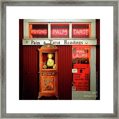 Madame Laurie's 24 Hour Fortune Atm Psychic Palm Tarot Fortune Be Told Circa 2016 20160626 Square Framed Print