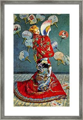 Madame Monet 1876 Framed Print