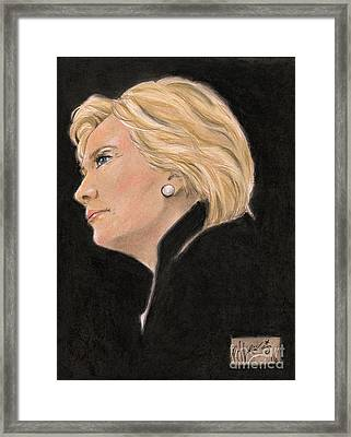 Madame President Framed Print by P J Lewis