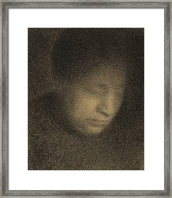 Madame Seurat Framed Print by Georges Pierre Seurat