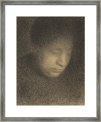 Madame Seurat The Artists Mother Framed Print by Georges-Pierre Seurat