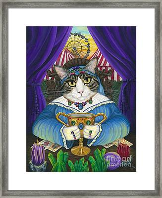 Madame Zoe Teller Of Fortunes - Queen Of Cups Framed Print