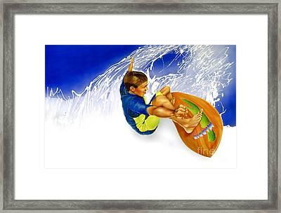 Madden Aquaplanks Framed Print