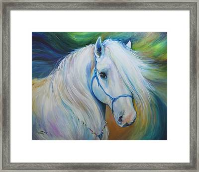 Maddie The Angel Horse Framed Print by Marcia Baldwin