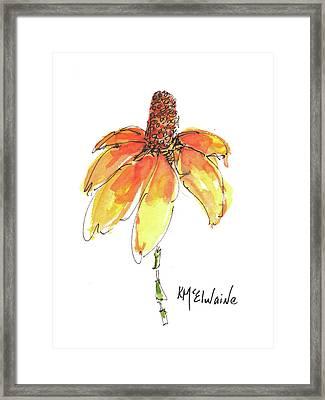 Made For Order Cone Sunflower Framed Print