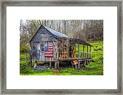 Made In The Usa Framed Print by Debra and Dave Vanderlaan