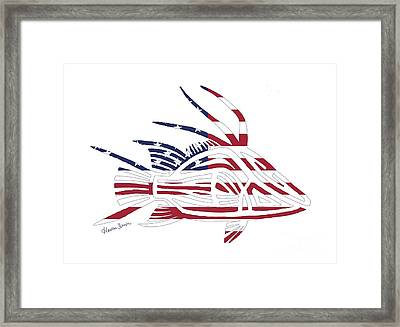 Made In The Usa Tribal Hogfish Framed Print