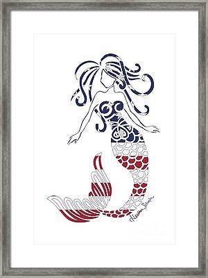 Made In The Usa Tribal Mermaid Framed Print