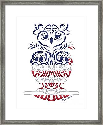 Made In The Usa Tribal Owl Framed Print