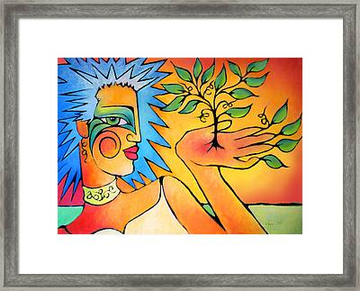 Made Of Day Framed Print